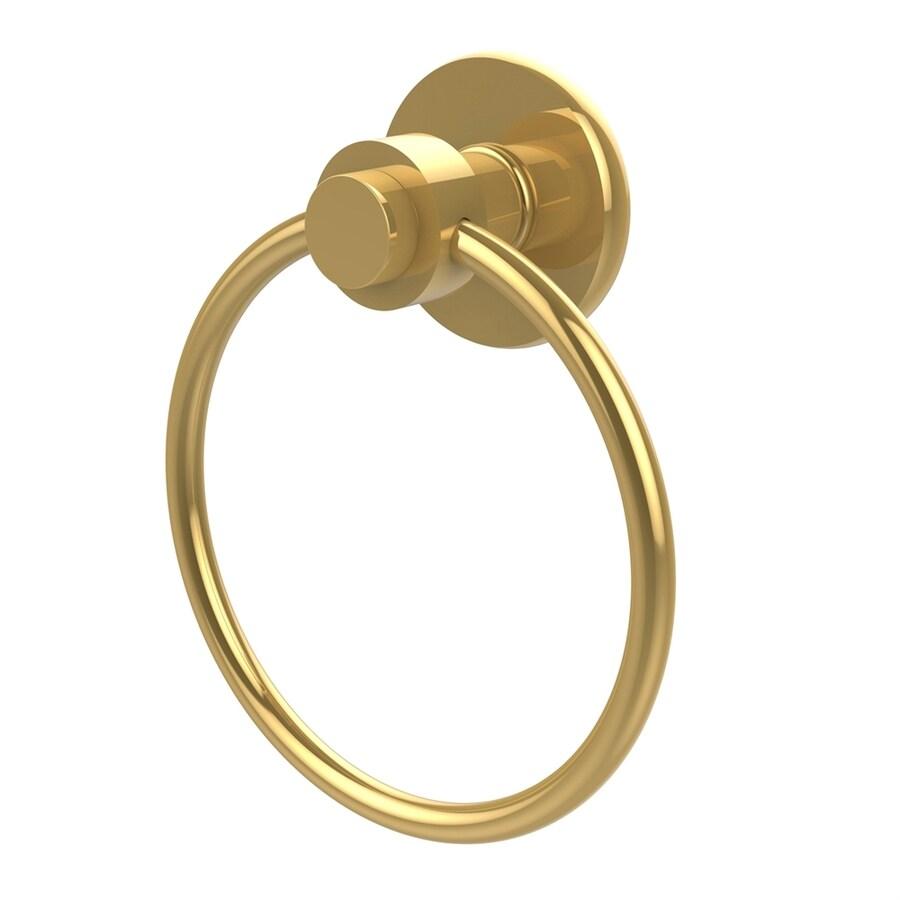 Allied Brass Mercury Polished Brass Wall-Mount Towel Ring