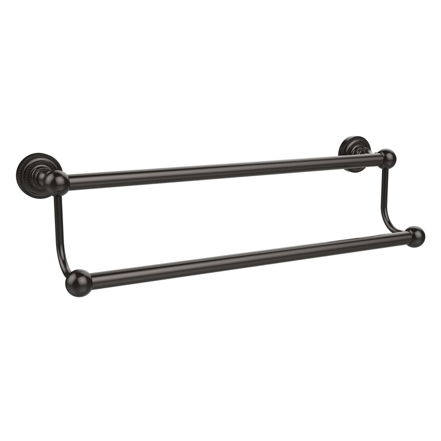Allied Brass Dottingham Oil-Rubbed Bronze Double Towel Bar (Common: 24-in; Actual: 26.2-in)