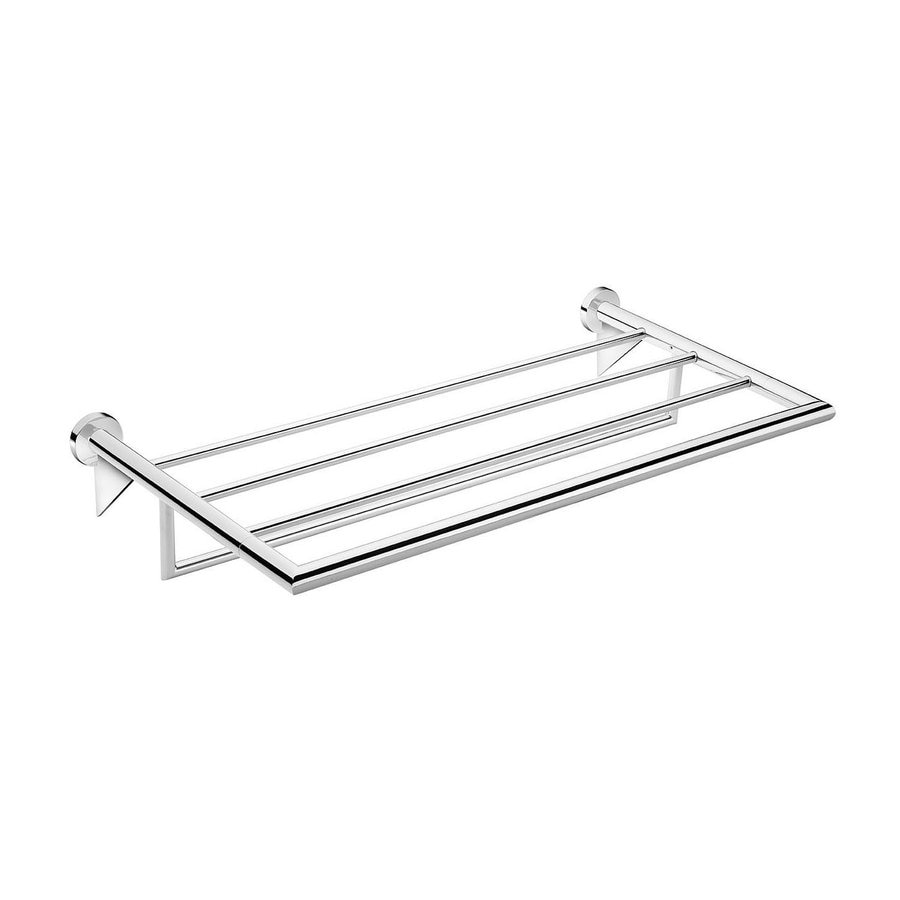 WS Bath Collections Kubic Cool Polished Chrome Rack Towel Bar (Common: 20-in; Actual: 23.4-in)