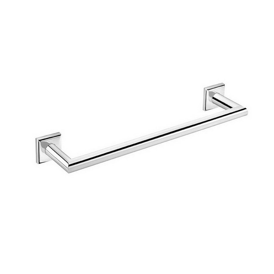 WS Bath Collections Kubic Class Polished Chrome Single Towel Bar (Common: 15-in; Actual: 15.8-in)