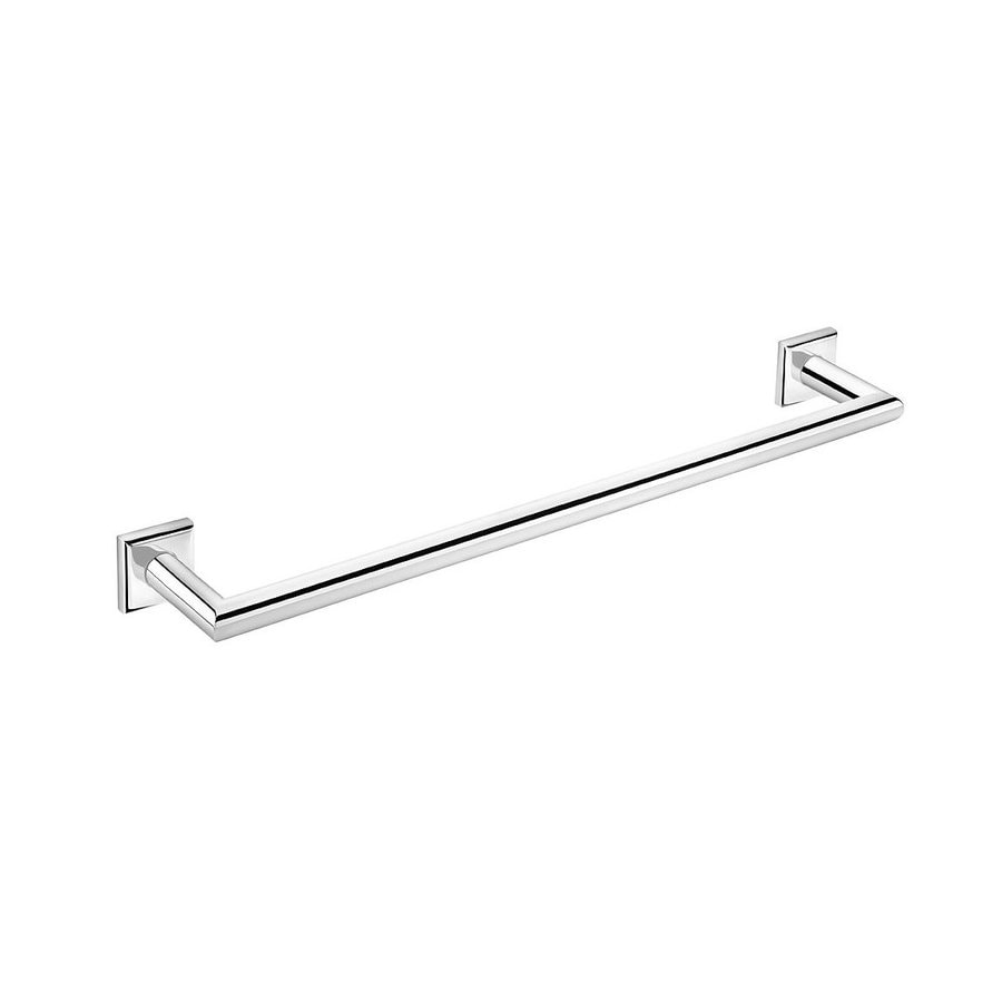 WS Bath Collections Kubic Class Polished Chrome Single Towel Bar (Common: 18-in; Actual: 19.7-in)