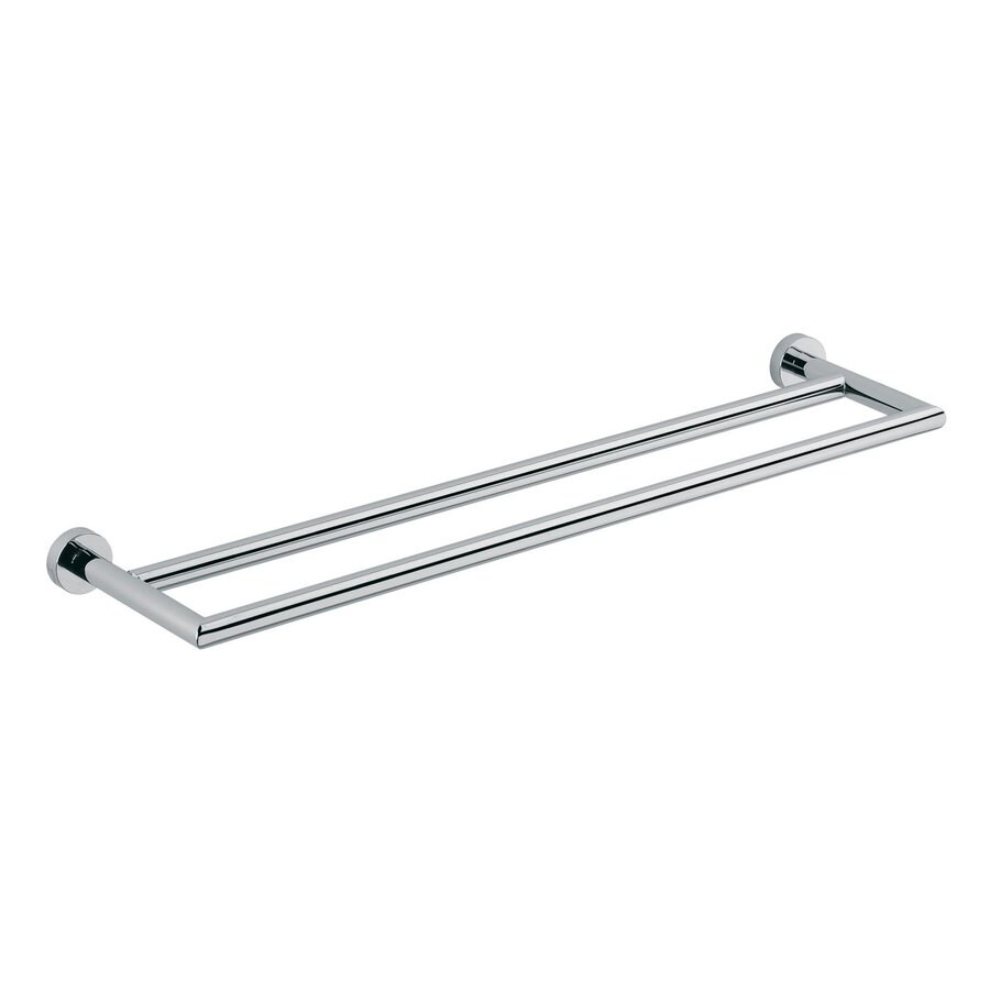 WS Bath Collections Baketo Polished Chrome Double Towel Bar (Common: 22-in; Actual: 23.6-in)