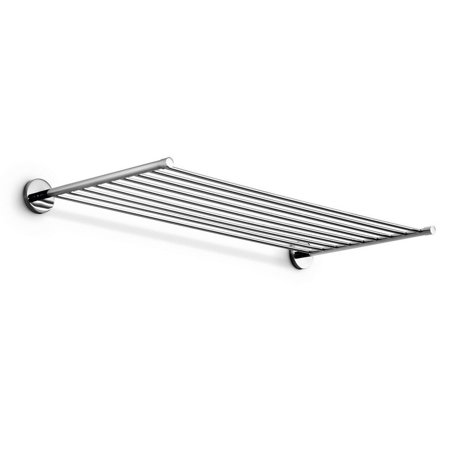 WS Bath Collections Duemila Polished Chrome Rack Towel Bar (Common: 22-in; Actual: 23.6-in)