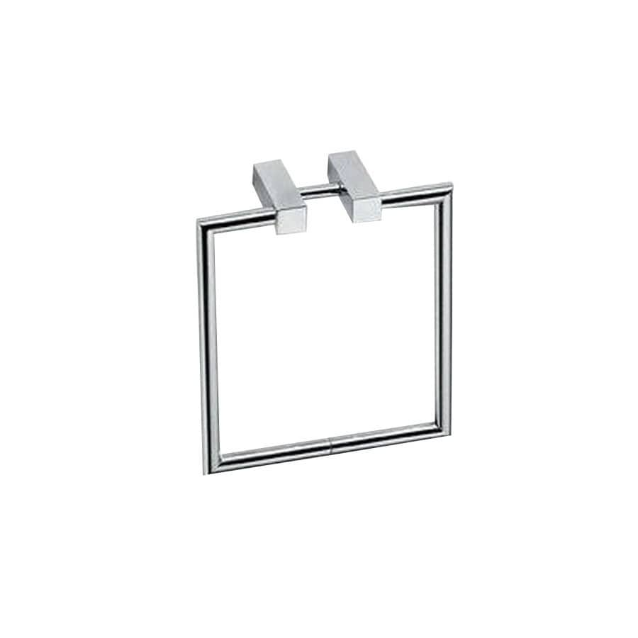 WS Bath Collections Metric Polished Chrome Wall-Mount Towel Ring