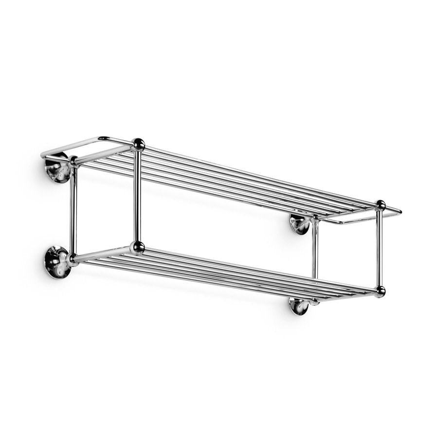 WS Bath Collections Venessia Polished Chrome Rack Towel Bar (Common: 24-in; Actual: 30-in)