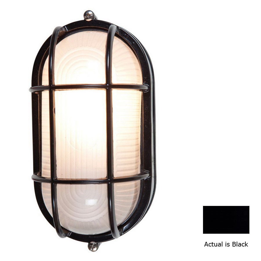 Access Lighting Nauticus 6-3/4-in Black Outdoor Wall Light