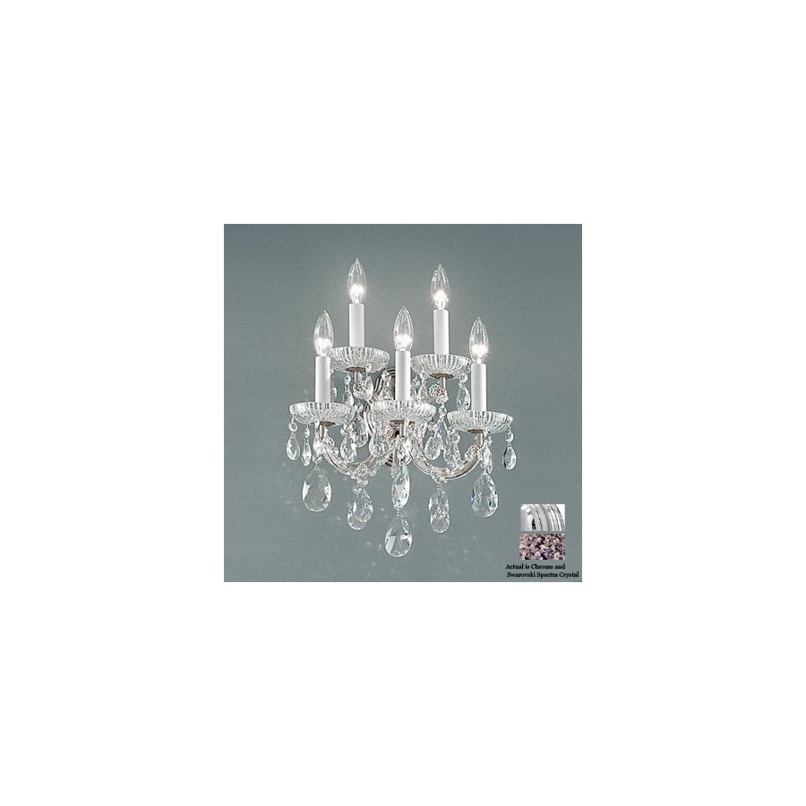 Classic Lighting 13-in W Maria Theresa Chrome Crystal Arm Wall Sconce