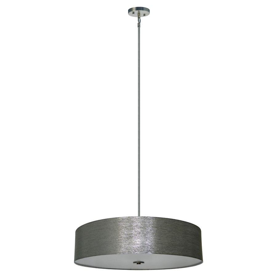 Whitfield Lighting Modena 30-in Satin Steel Drum Pendant