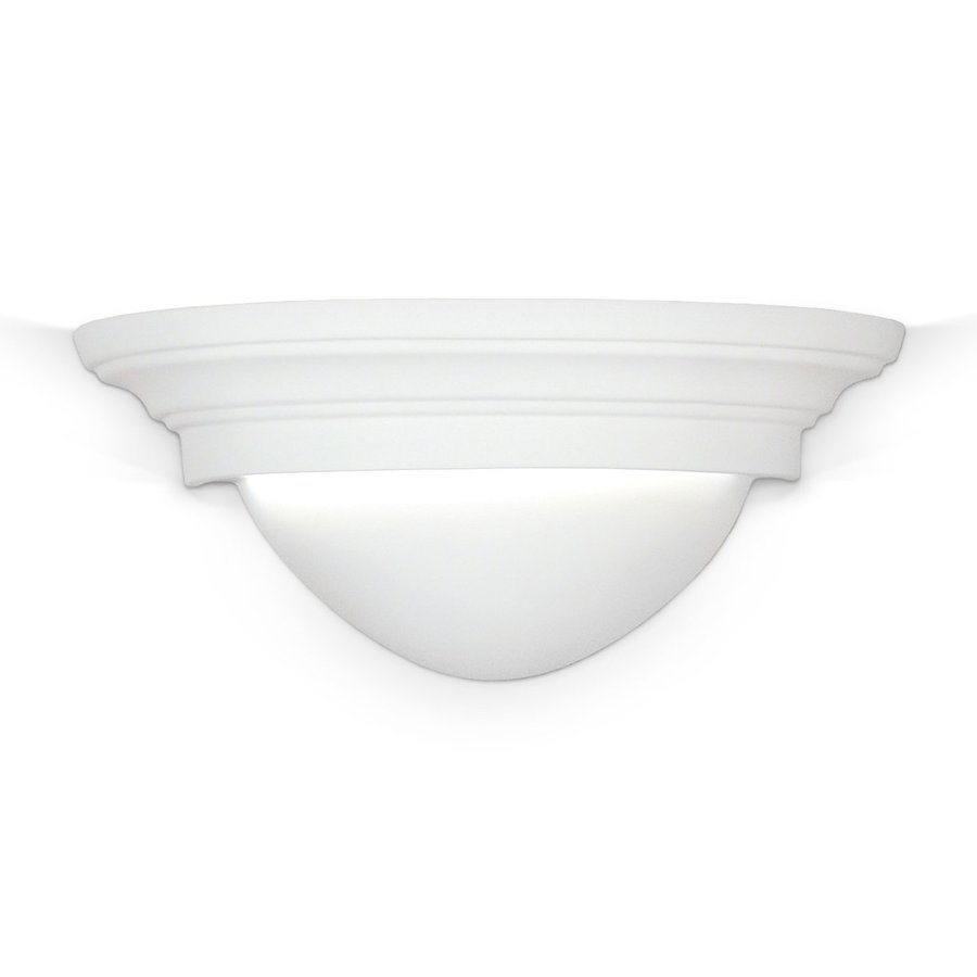 A-19 Islands Of Light Minorca 11-in W 1-Light Unfinished Bisque Pocket Hardwired Wall Sconce