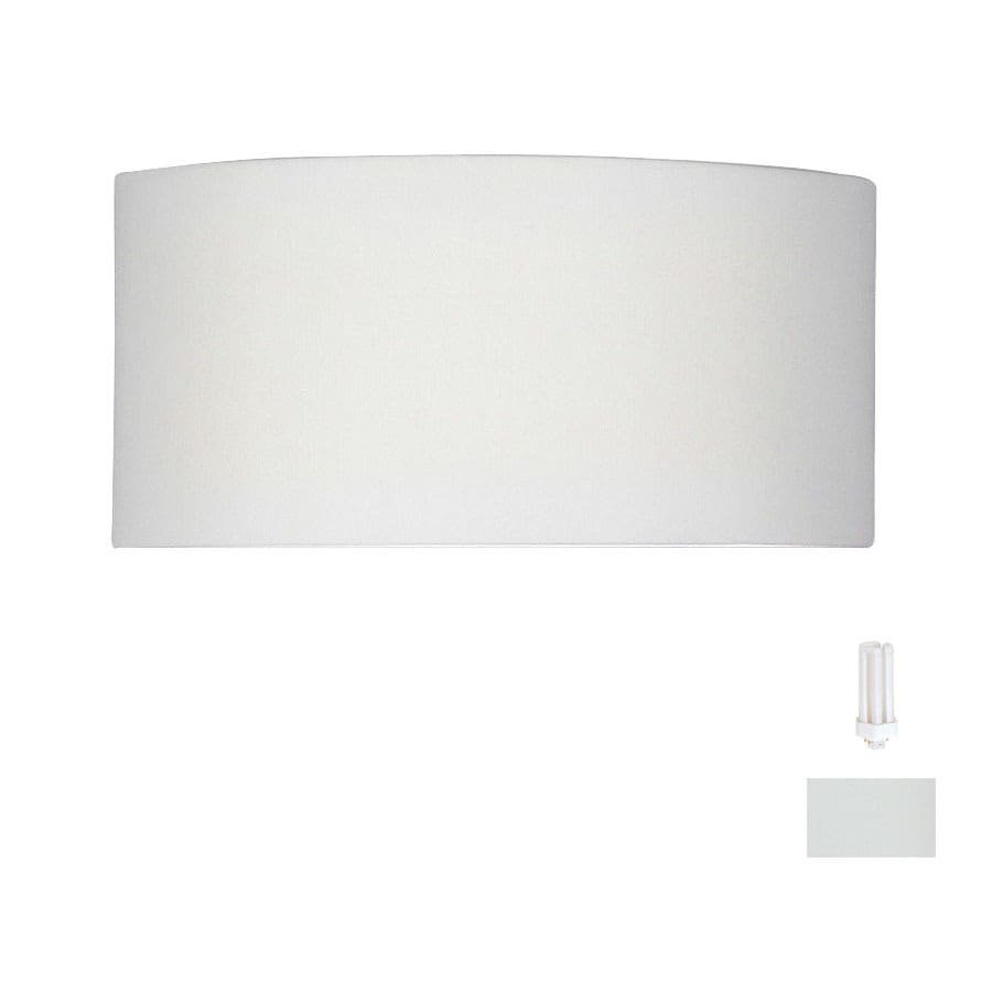 A-19 Islands of Light Krete 14.25-in W 1-Light Bisque-Unfinished Pocket Hardwired Wall Sconce