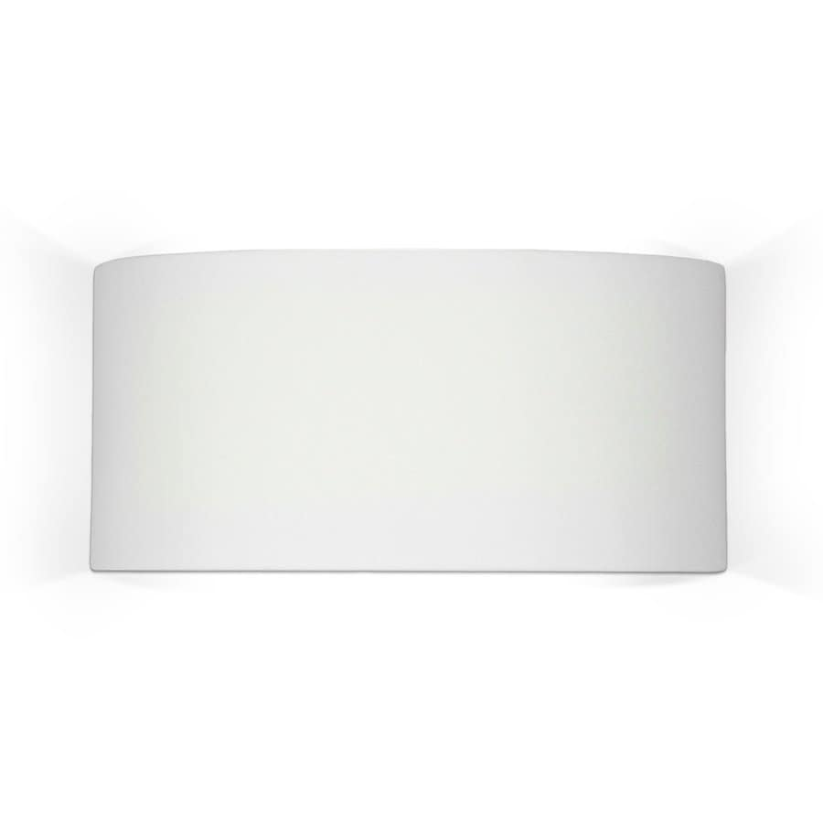 A-19 Islands Of Light Nicosia 14.25-in W 1-Light Unfinished Bisque Pocket Hardwired Wall Sconce