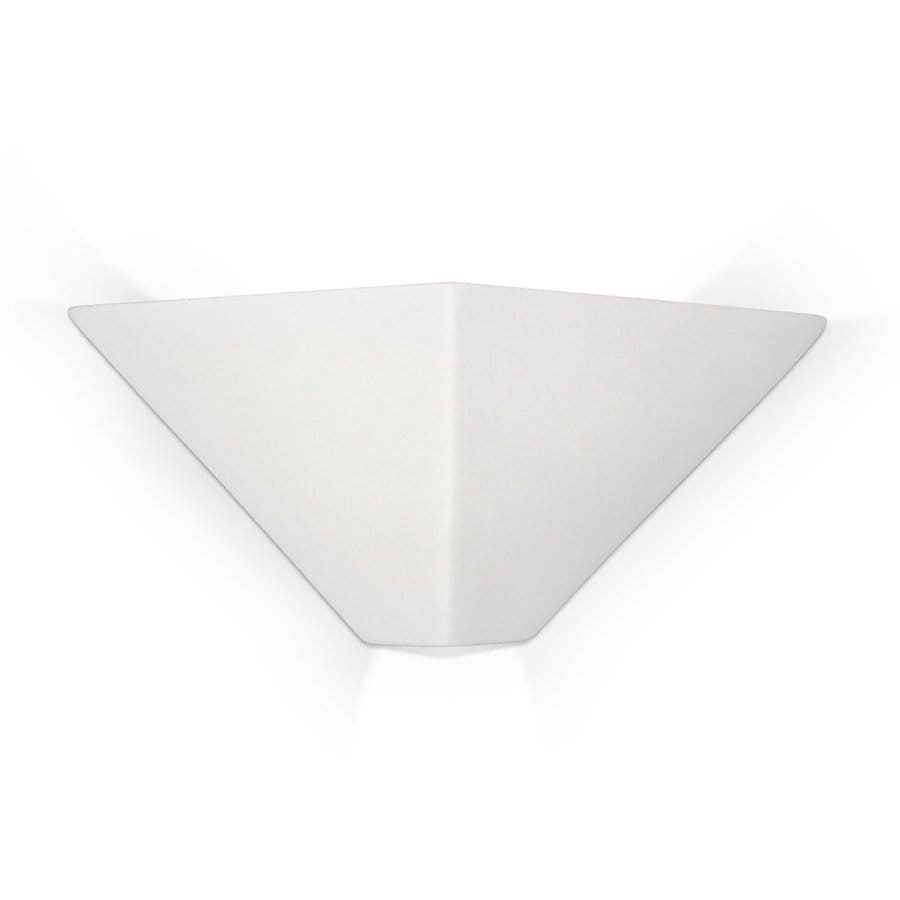 A-19 Islands Of Light Java 13.25-in W 1-Light Unfinished Bisque Pocket Hardwired Wall Sconce