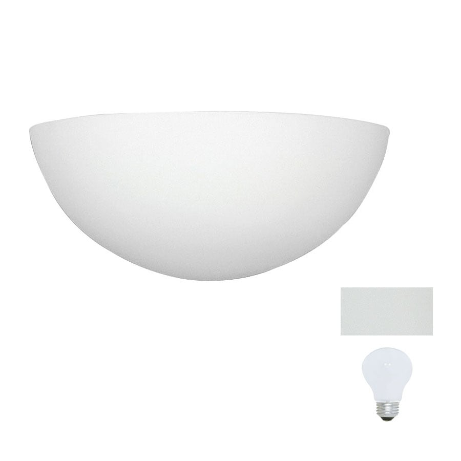 A-19 Islands of Light Gran Thera 13.5-in W 1-Light Bisque-Unfinished Pocket Hardwired Wall Sconce