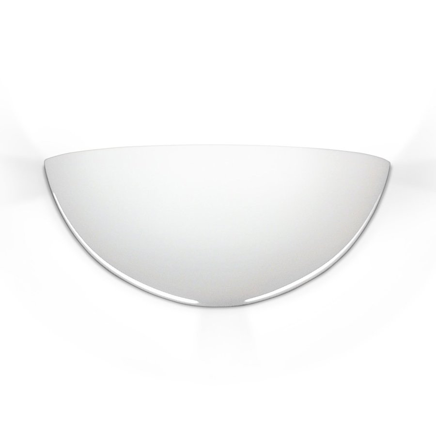 A-19 Islands Of Light Capri 10.25-in W 1-Light Unfinished Bisque Pocket Hardwired Wall Sconce