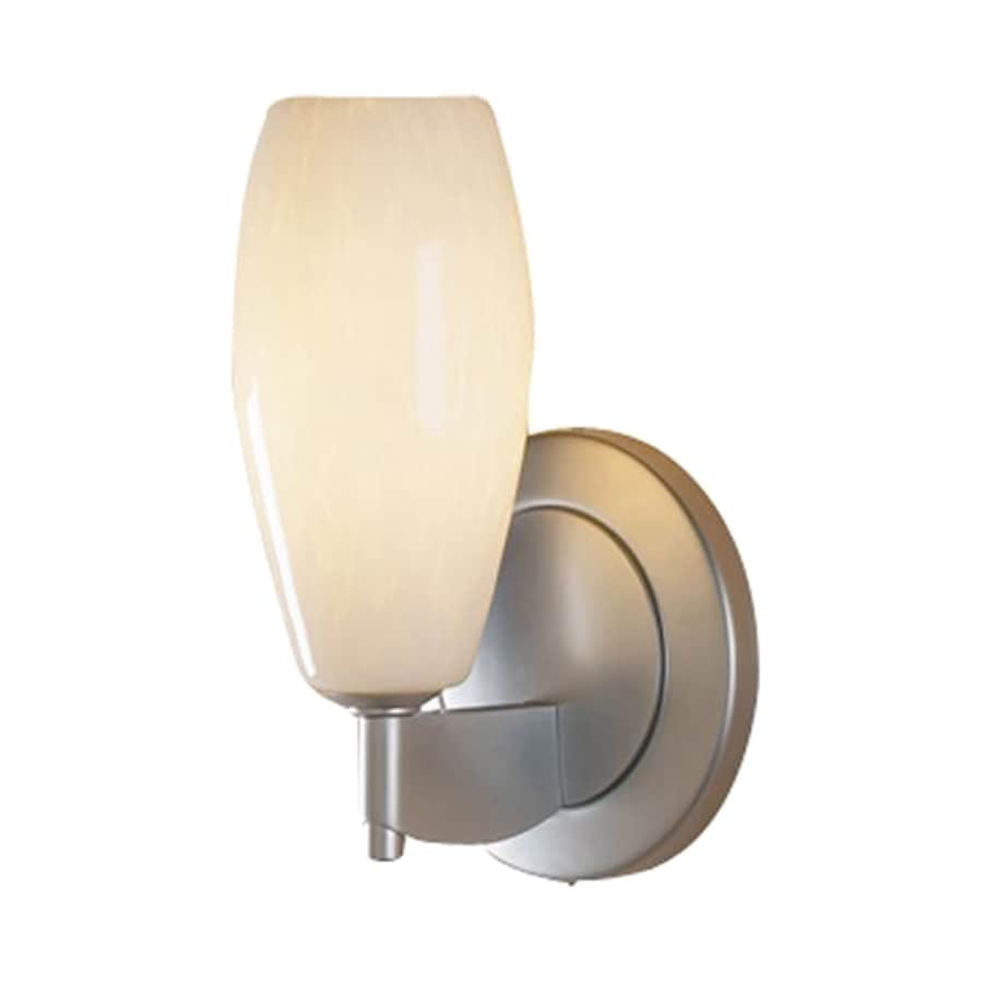 Bruck Lighting Systems Ciro 4.5-in W 1-Light Matte Chrome Art Glass Arm Hardwired Wall Sconce