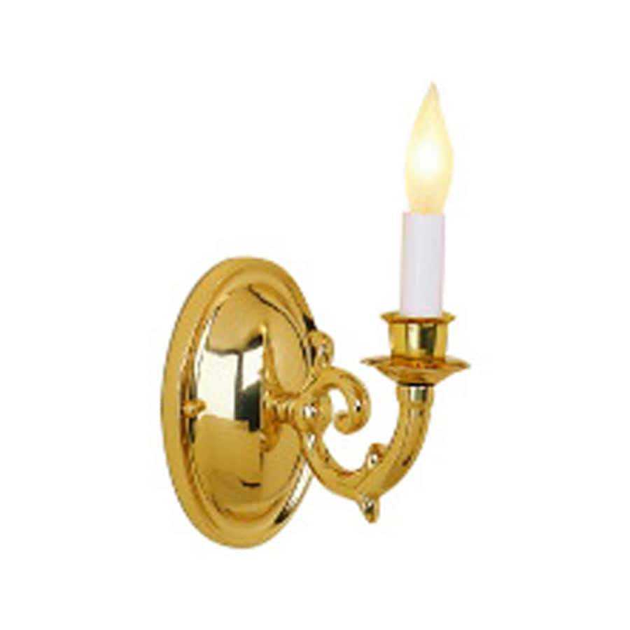 JVI Designs Williamsburg 4.5-in W 1-Light Polished Brass Arm Wall Sconce