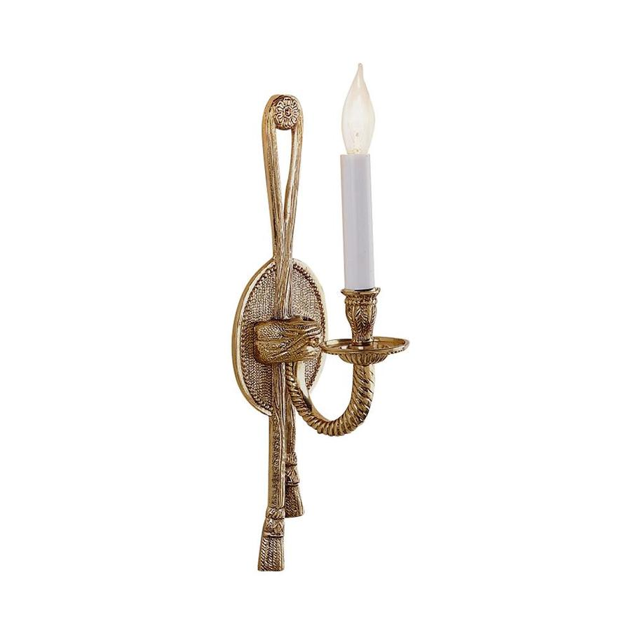 JVI Designs 4.25-in W 1-Light Antique Brass Arm Hardwired Wall Sconce