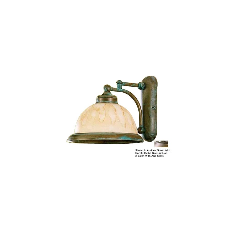 Shop Lustrarte 9-1/4-in W Marble 1-Light Earth Arm Wall Sconce at Lowes.com