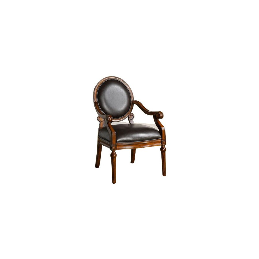 Furniture of America West Point Tobacco Oak Accent Chair