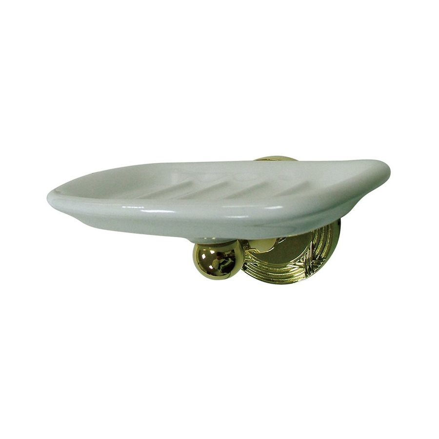 Elements of Design Georgian Polished Brass Porcelain Soap Dish