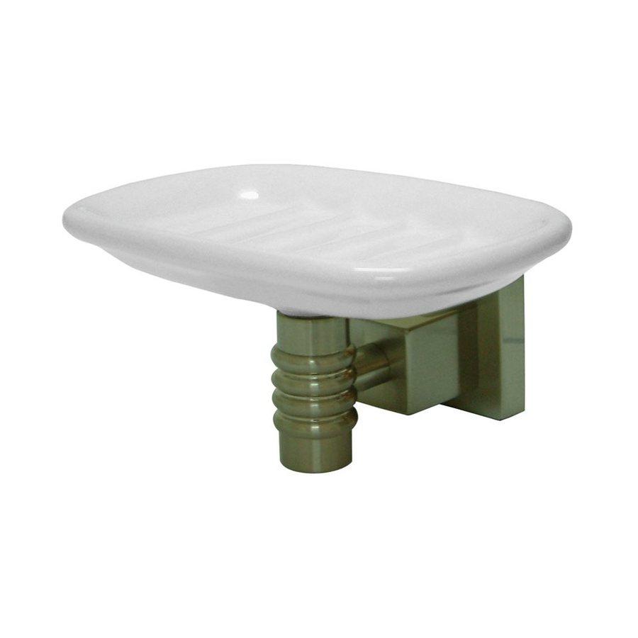 Elements of Design Fortress Satin Nickel Brass Porcelain Soap Dish