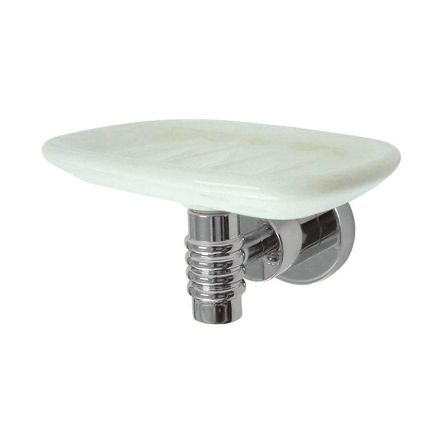 Elements of Design Milano Chrome Brass Porcelain Soap Dish