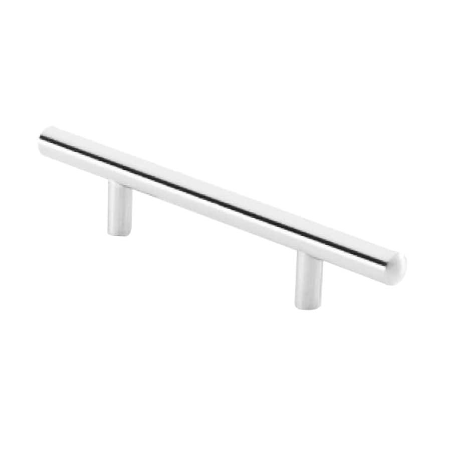Siro Designs 3-3/4-in Center-To-Center Bright Chrome European Railing Bar Cabinet Pull
