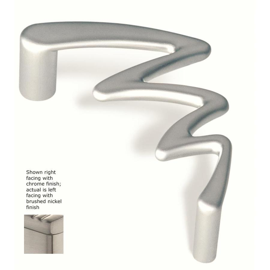 Siro Designs 3-3/4-in Center-To-Center Fine-Brushed Nickel Jazz Novelty Cabinet Pull