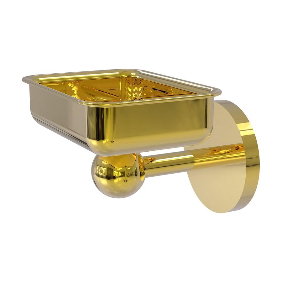 Allied Brass Skyline Polished Brass Brass Soap Dish
