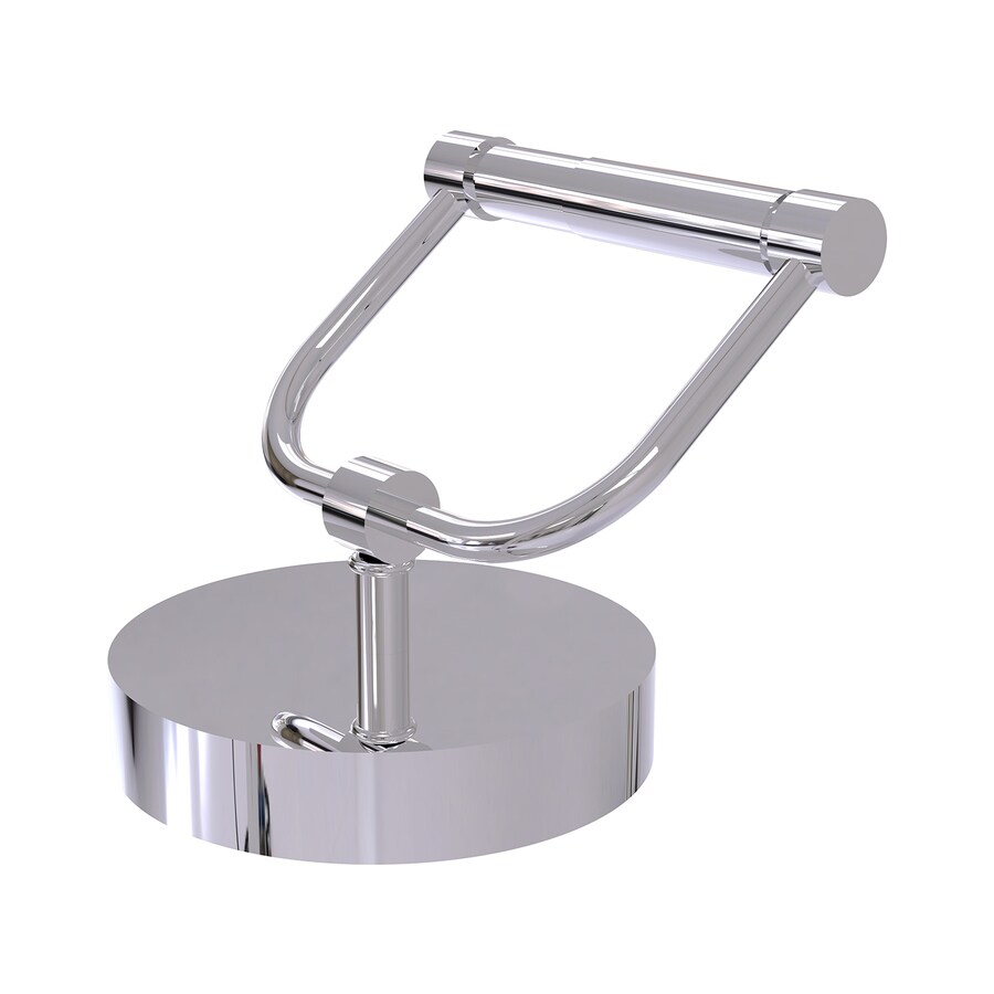 Allied Brass Polished Chrome Freestanding Countertop Toilet Paper Holder