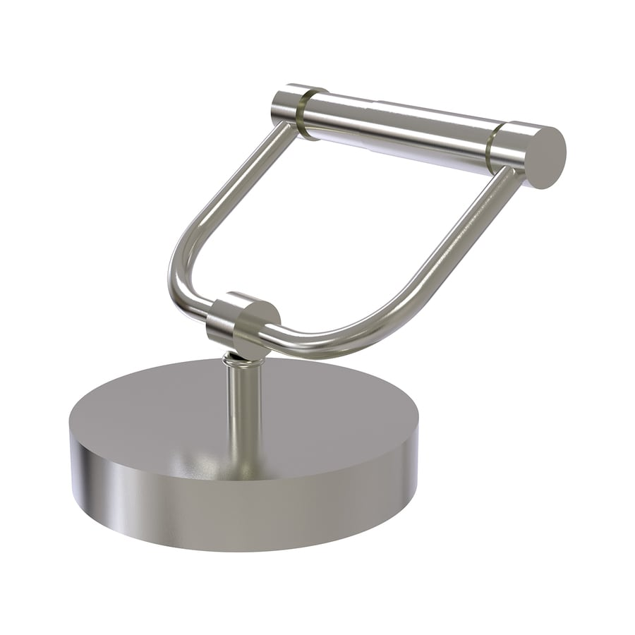 Allied Brass Satin Nickel Freestanding Countertop Toilet Paper Holder