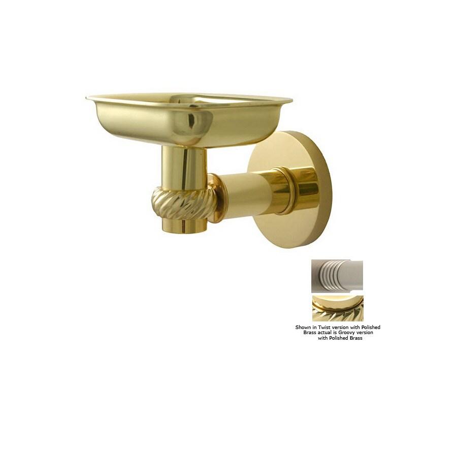 Allied Brass Continental Polished Brass Brass Soap Dish