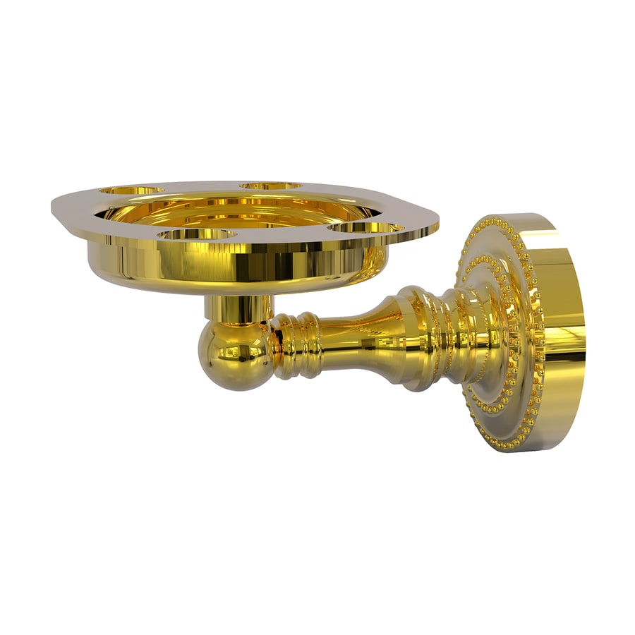 Allied Brass Dottingham Polished Brass Brass Toothbrush Holder