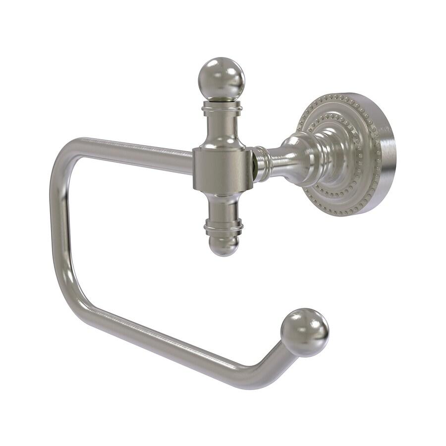 Allied Brass Retro-Dot Satin Nickel Surface Mount Toilet Paper Holder