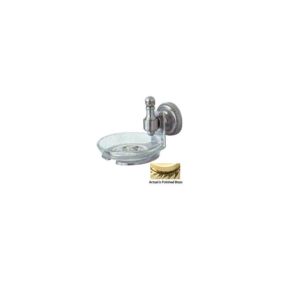 Allied Brass Retro-Dot Polished Brass Brass Soap Dish