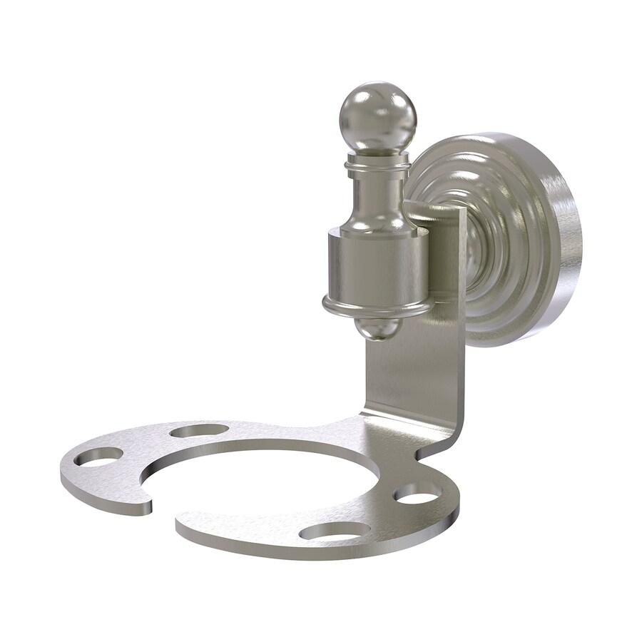 Allied Brass Retro-Wave Satin Nickel Brass Toothbrush Holder