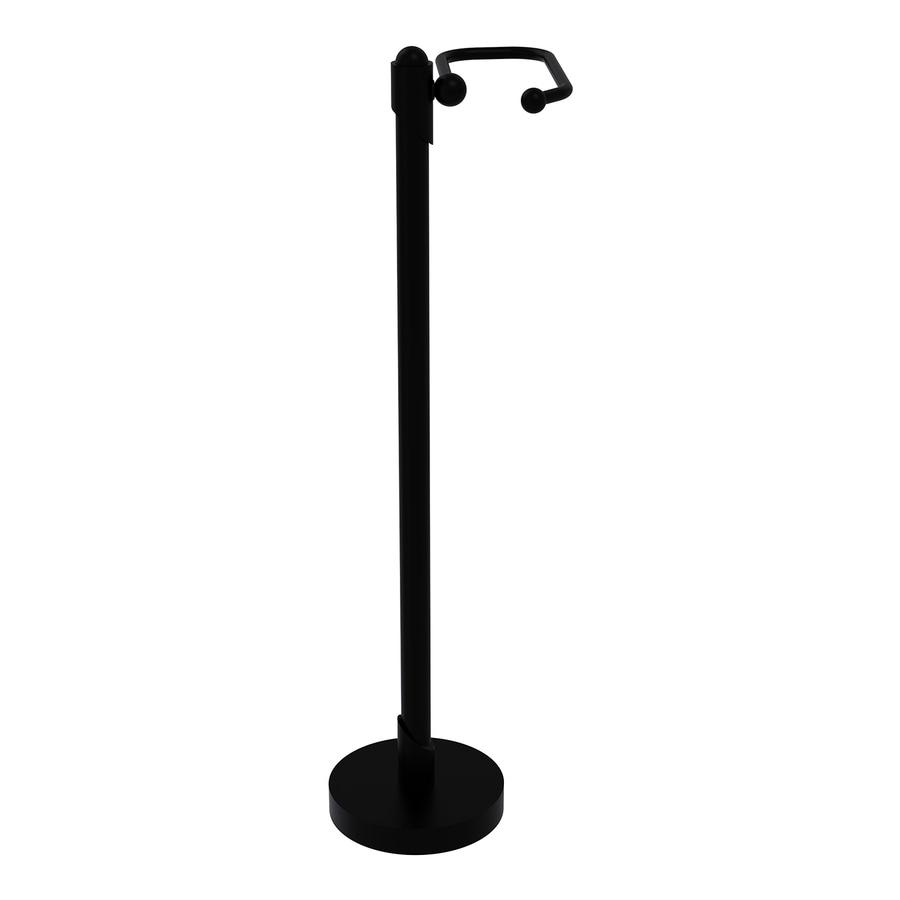 Allied Brass Soho Matte Black Freestanding Floor Toilet Paper Holder