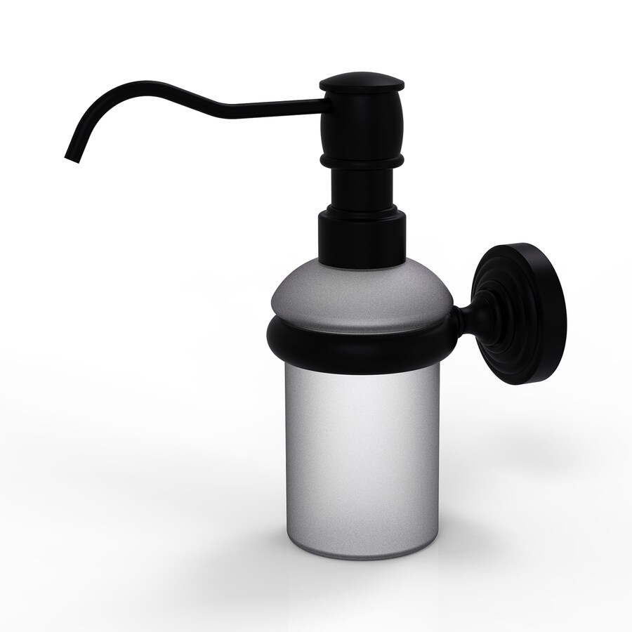 Allied Brass Matte Black Soap and Lotion Dispenser