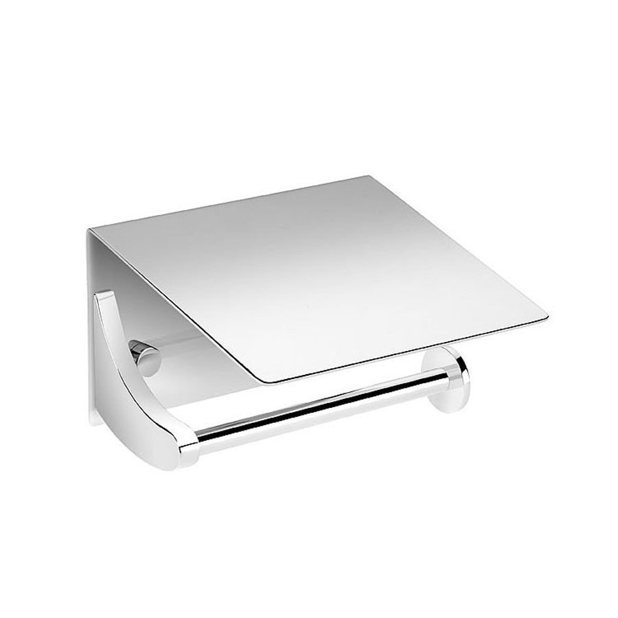WS Bath Collections Kubic Class Polished Chrome Surface Mount Toilet Paper Holder