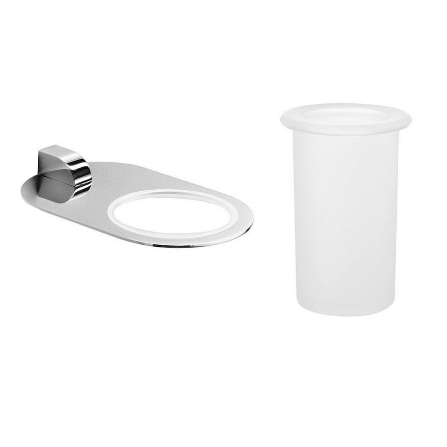 WS Bath Collections Muci Polished Chrome Brass Tumbler