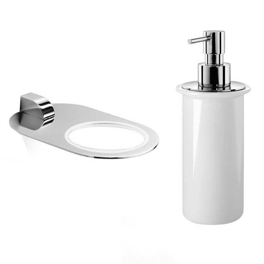 Shop Ws Bath Collections Polished Chrome Soap And Lotion Dispenser At