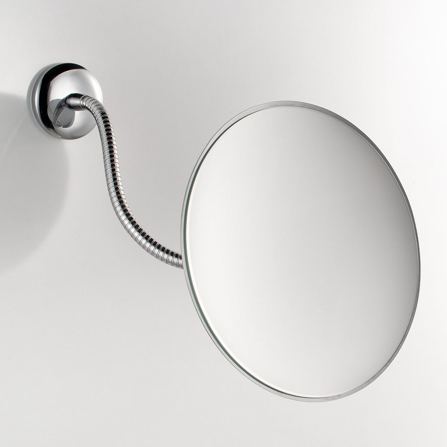 WS Bath Collections Mirror Pure Chrome Magnifying Wall-Mounted Vanity Mirror