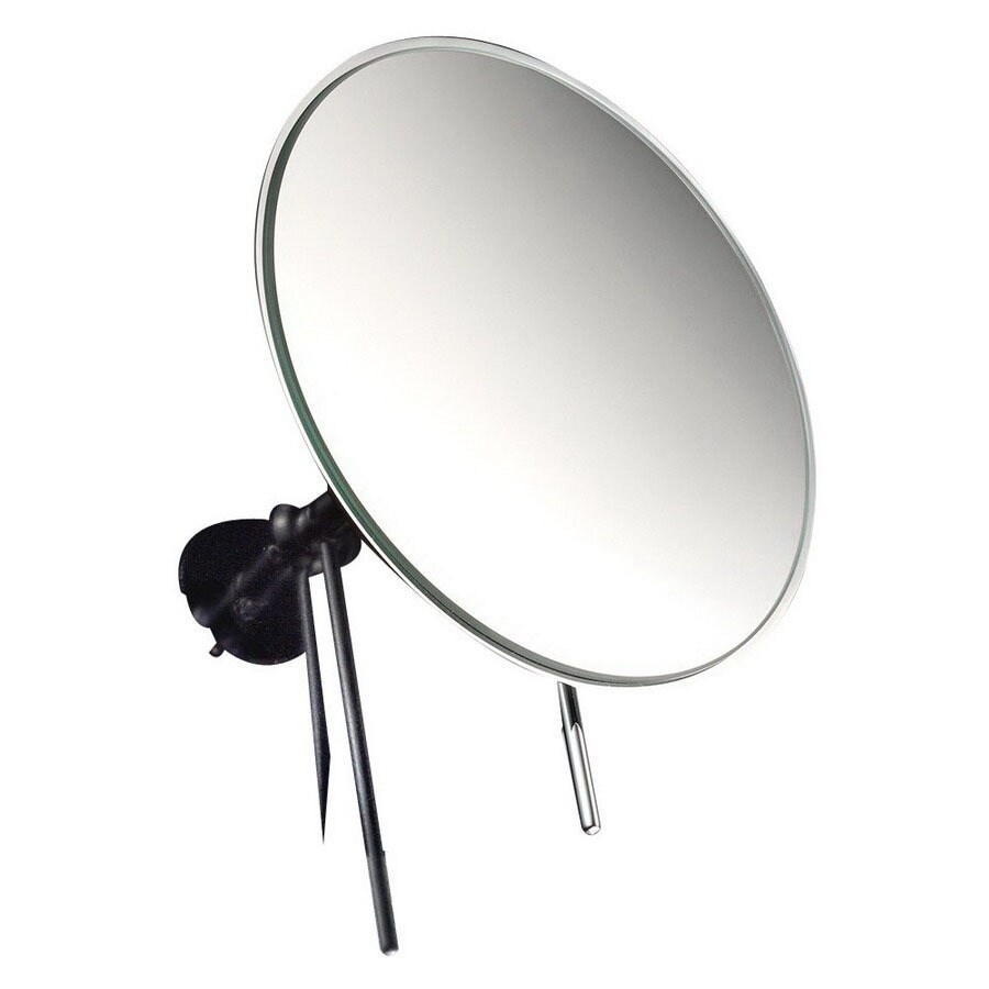 WS Bath Collections Mirror Pure Chrome Chrome Magnifying Wall-Mounted Vanity Mirror
