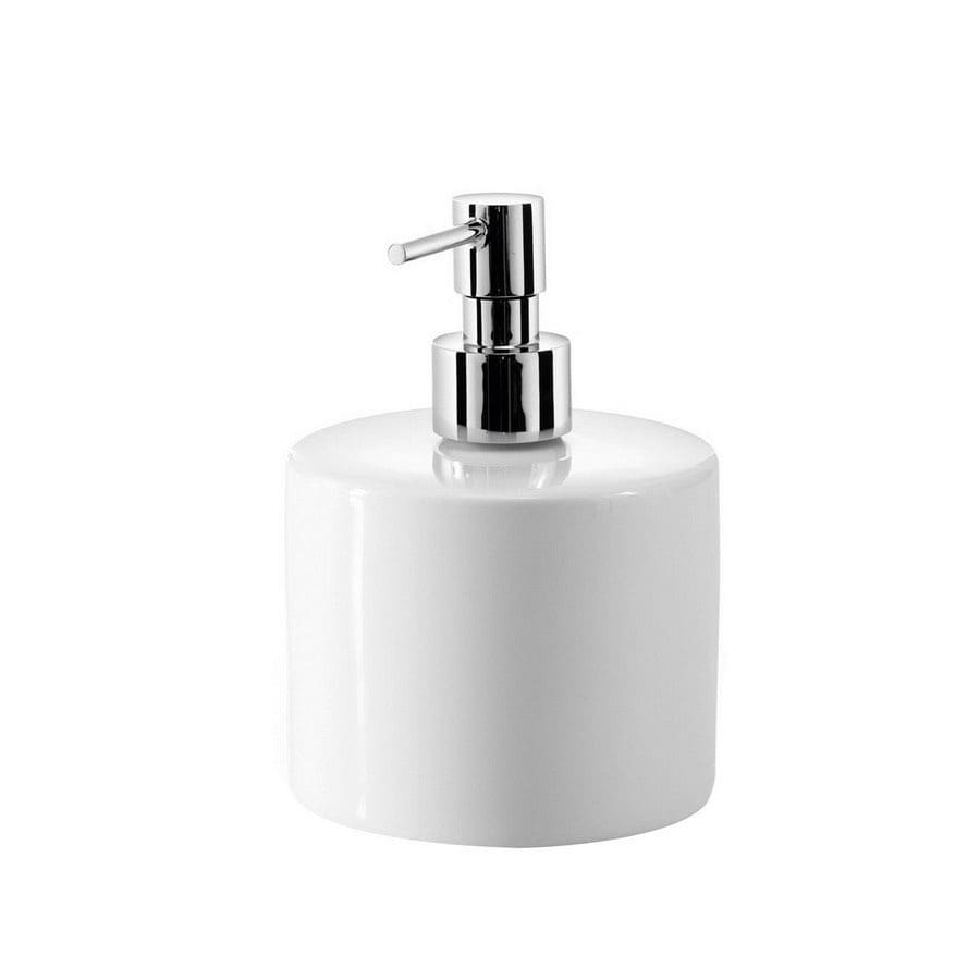 WS Bath Collections Porcelain White Soap and Lotion Dispenser