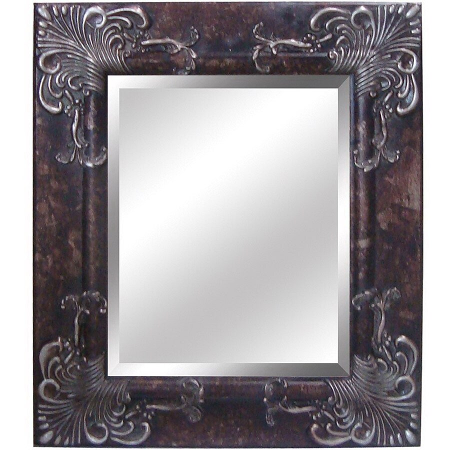 Yosemite Home Decor 28-1/2-in H x 24.5-in W Antique Silver Rectangular Bathroom Mirror