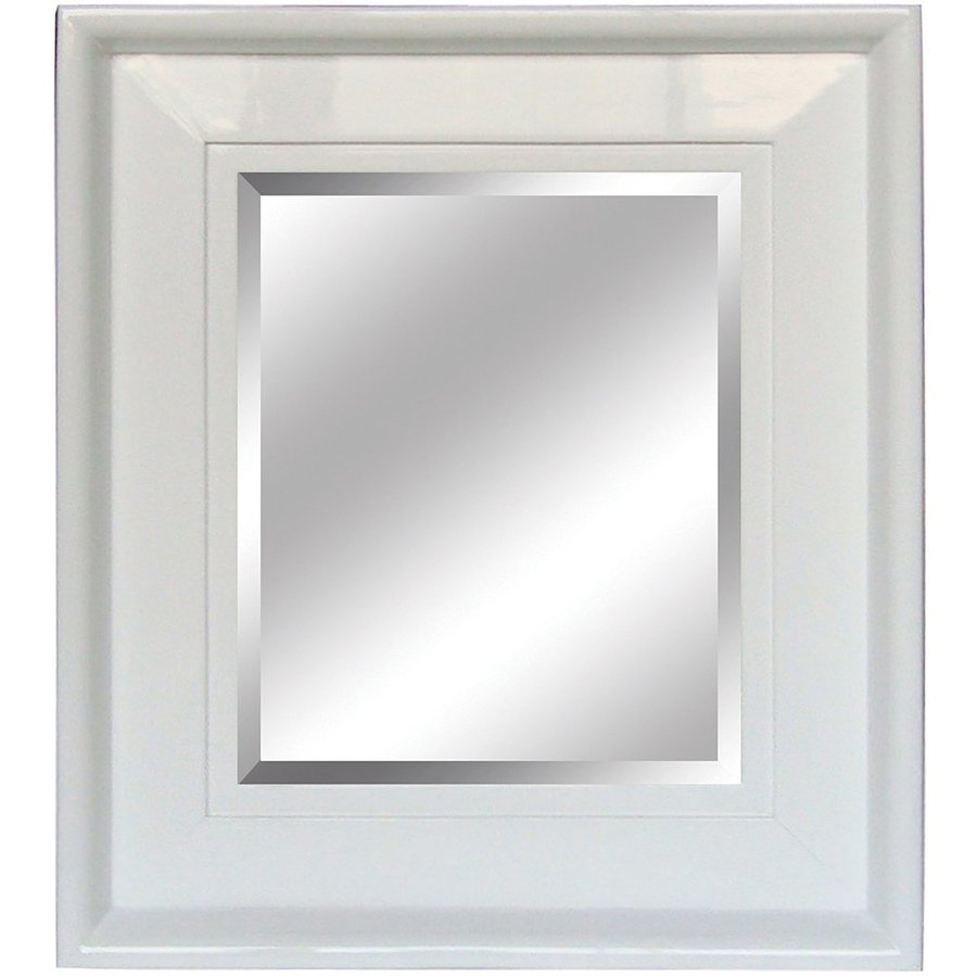 Yosemite Home Decor 26-in W x 30-in H White Rectangular Bathroom Mirror