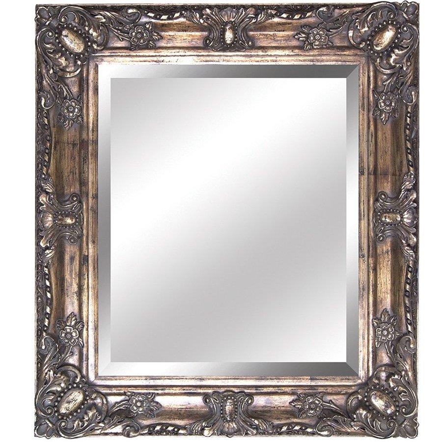 Yosemite Home Decor 27.5-in W x 31.5-in H Antique Golden Rectangular Bathroom Mirror