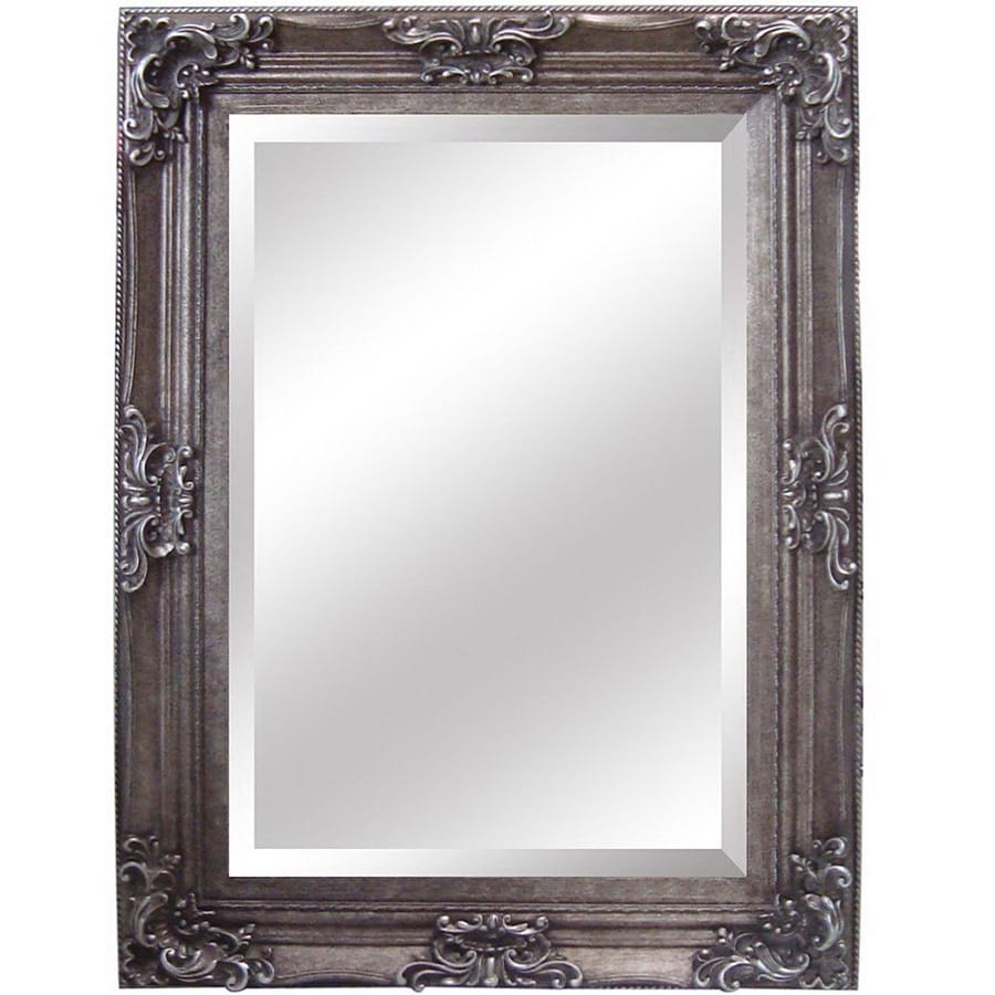 Shop yosemite home decor 33 5 in w x 45 5 in h antique for Bathroom decor mirrors