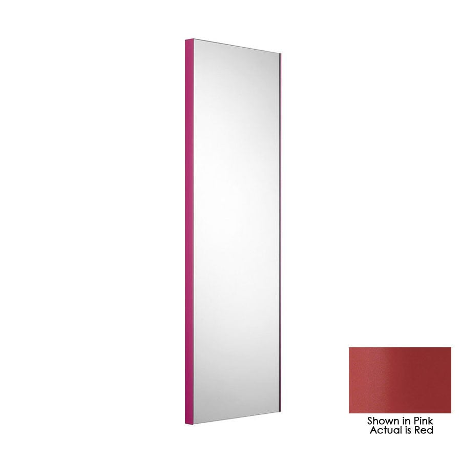 WS Bath Collections 39-3/8-in H x 12-7/8-in W Linea Red Rectangular Bath Mirror