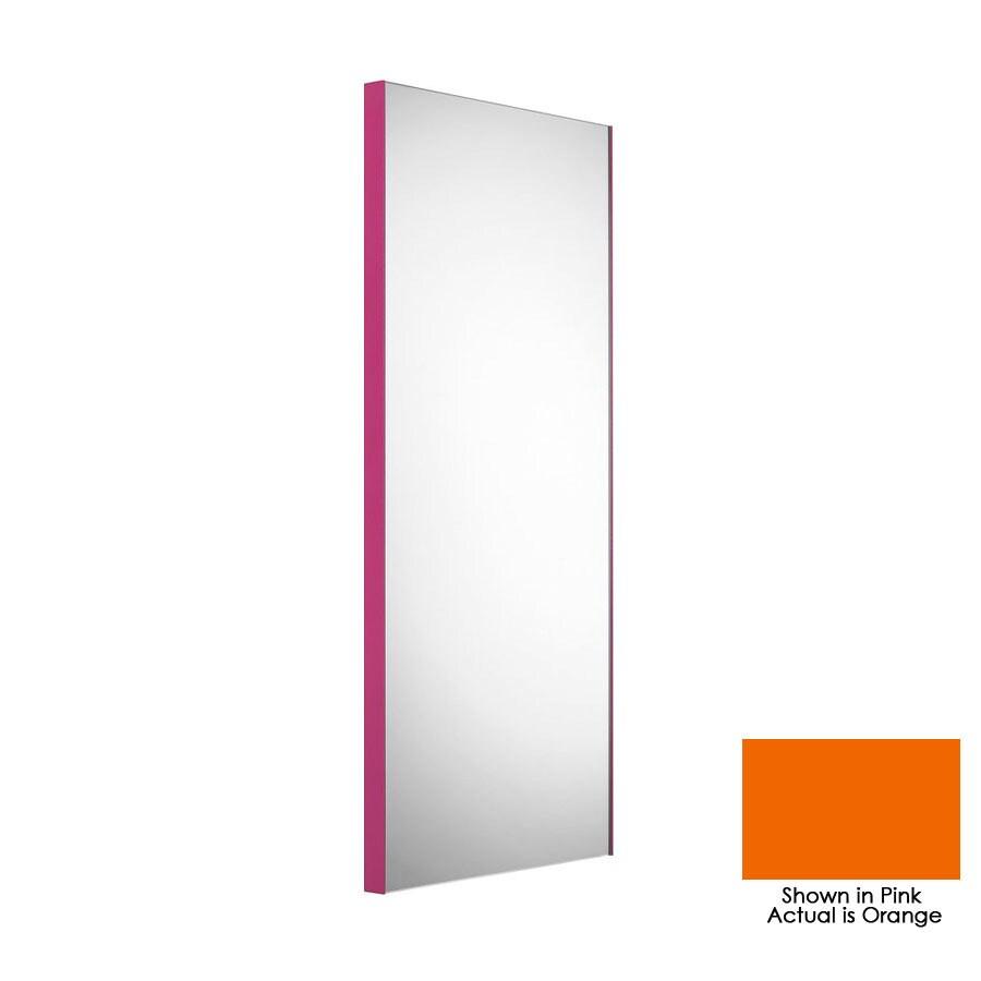 WS Bath Collections 39-3/8-in H x 17-1/2-in W Linea Orange Rectangular Bath Mirror